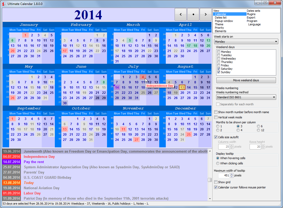 Ultimate Calendar full screenshot